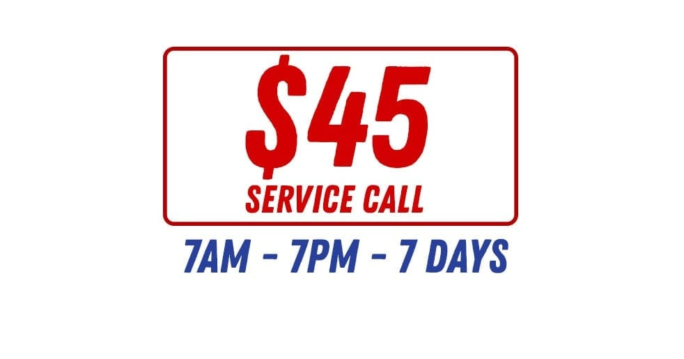 Air Conditioning $45 Service Call