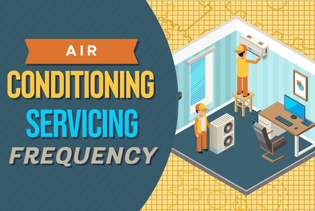 Air conditioning servicing frequency