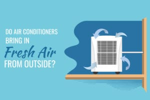Do air conditioners circulate fresh air from outside