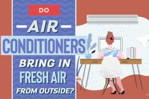 Do air conditioners bring in fresh air from outside