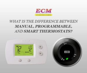 difference manual programmable smart thermostats