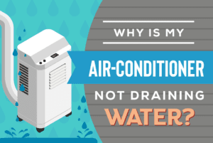 Why is my air-conditioner not draining water
