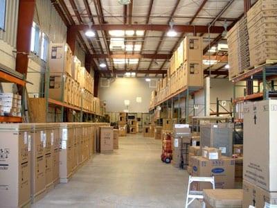 ECM A/C parts inventory warehouse