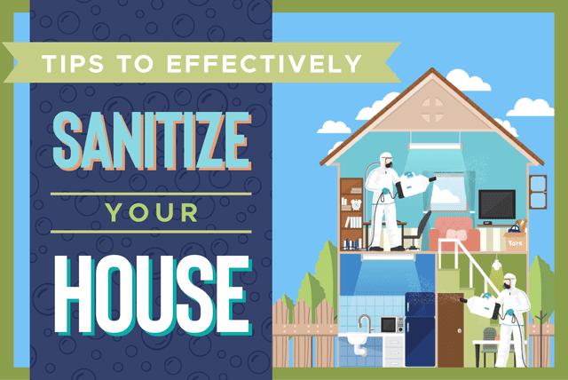 sanitizing your house