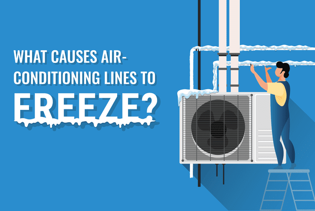 what causes air conditioning lines to freeze